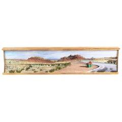 """Modern Diorama """"Area Above San Rafael Reef, Utah"""" Lloyd Brown, 1999, Painting"""