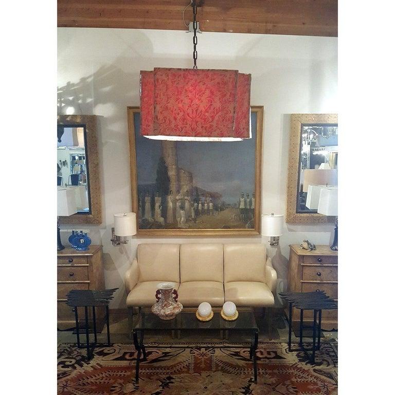 American Modern Draped Chandelier by Paul Marra in Fortuny For Sale