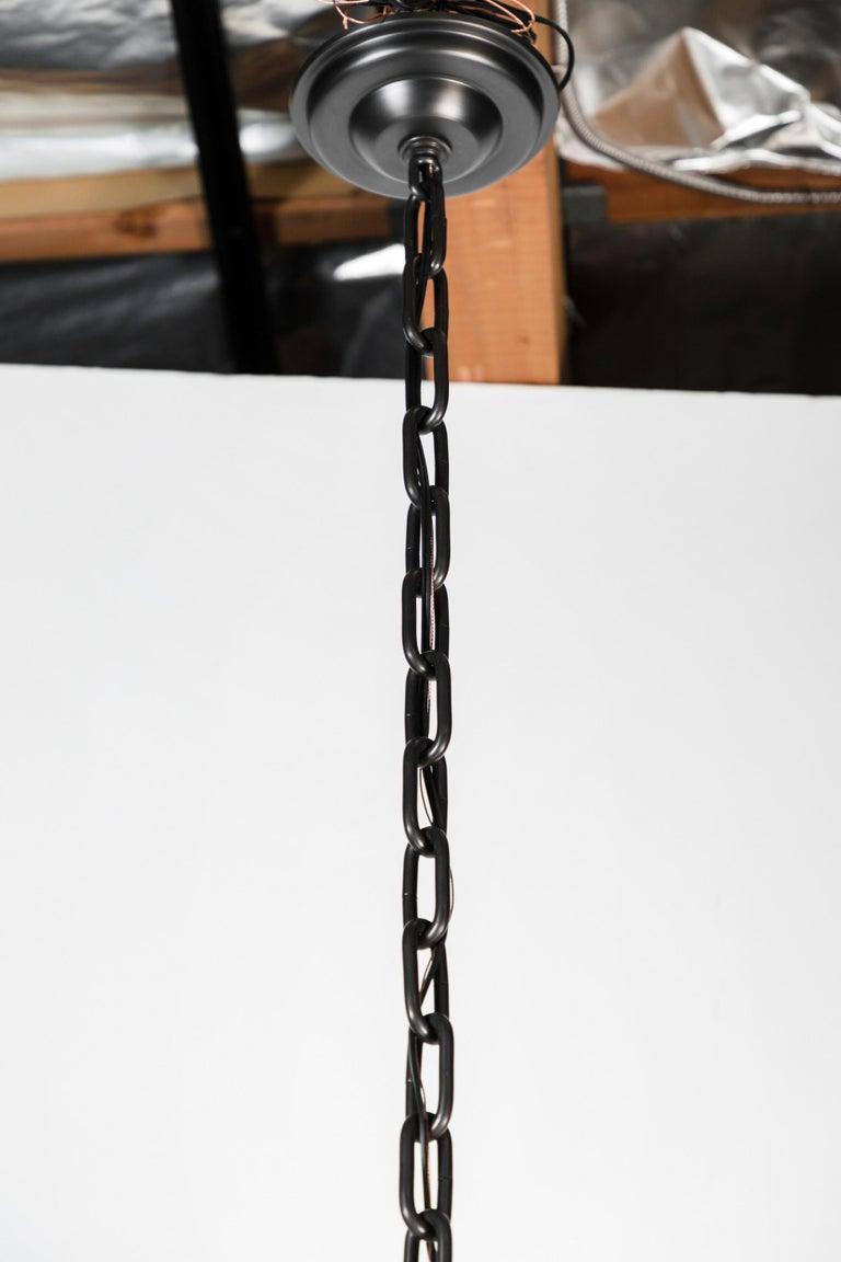 Metal Modern Draped Chandelier by Paul Marra in Linen For Sale