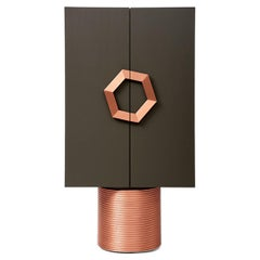 Modern Drinks Cabinet with Copper Accents for Dinner Parties