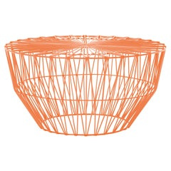 Modern Drum Table and Ottoman in Orange by Bend Goods