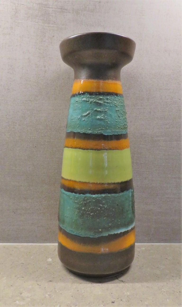 Mid-20th Century Modern East German Ceramic Lava Glaze Vase 1960s For Sale