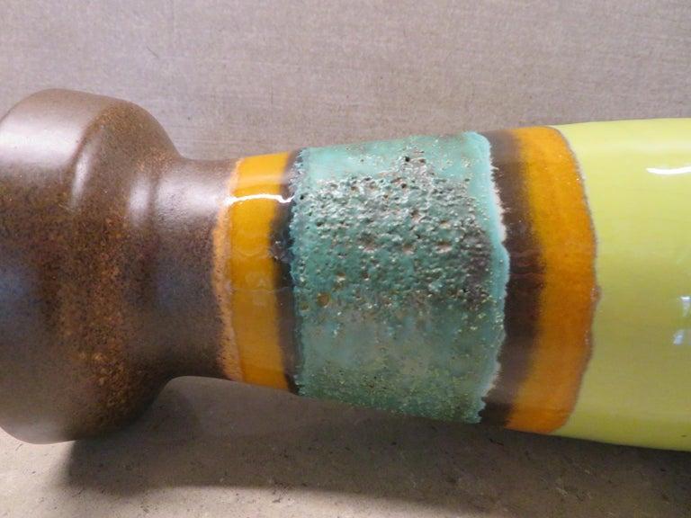 Modern East German Ceramic Lava Glaze Vase 1960s For Sale 2