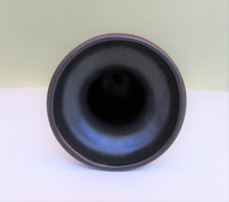 Modern East German Ceramic Lava Glaze Vase 1960s For Sale 4