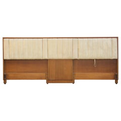 Modern Edward Wormley for Dunbar Tilting Drop Arm Extra Wide King Headboard