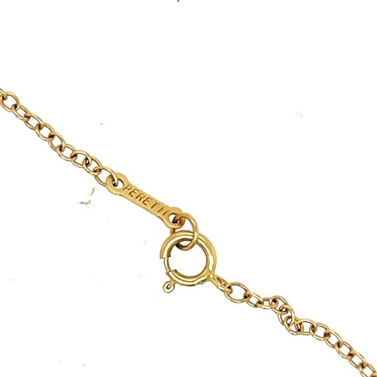 Brilliant Cut Modern Elsa Peretti Tiffany & Co. Open Heart Diamond Pendant Necklace