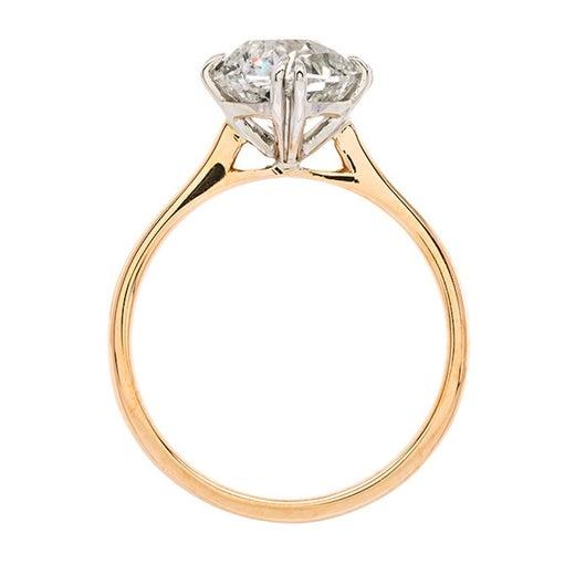 Modern Engagement Ring Set with 2 05 Carat Antique Diamond