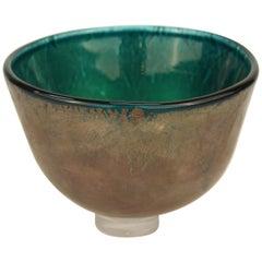 Modern English Studio Art Glass Bowl