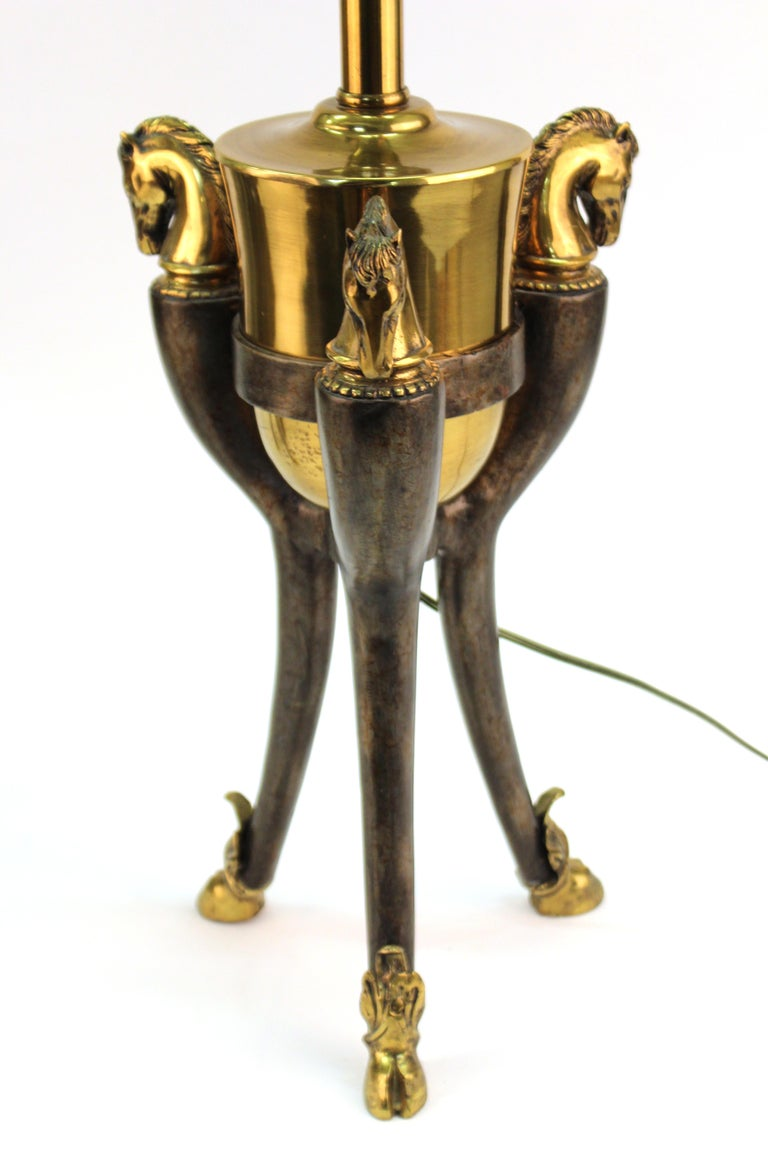 Modern Equestrian Themed Table Lamps with Horse Heads For Sale 5