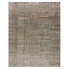 Modern Eskayel Akimbo Gray Handwoven Wool Rug