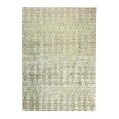 Modern Eskayel-Reflection Green Handcrafted Silk Rug
