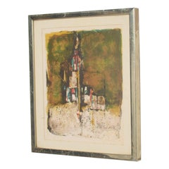 Modern European Abstract Landscape Lithograph