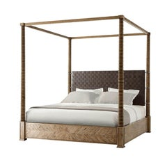 Modern European Four Post King Bed - Jill 50% Dep