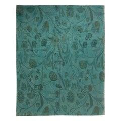 Modern European Inspired Tibetan Green Floral Rug