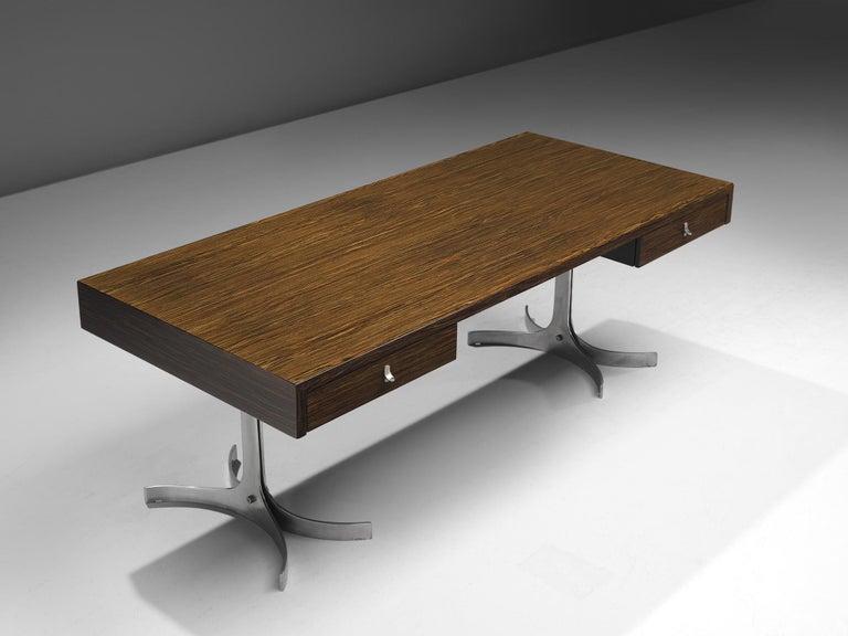 Mid-Century Modern Modern Executive Desk in Rosewood
