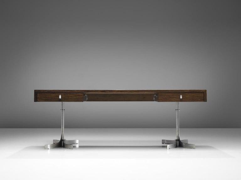 Italian Modern Executive Desk in Rosewood