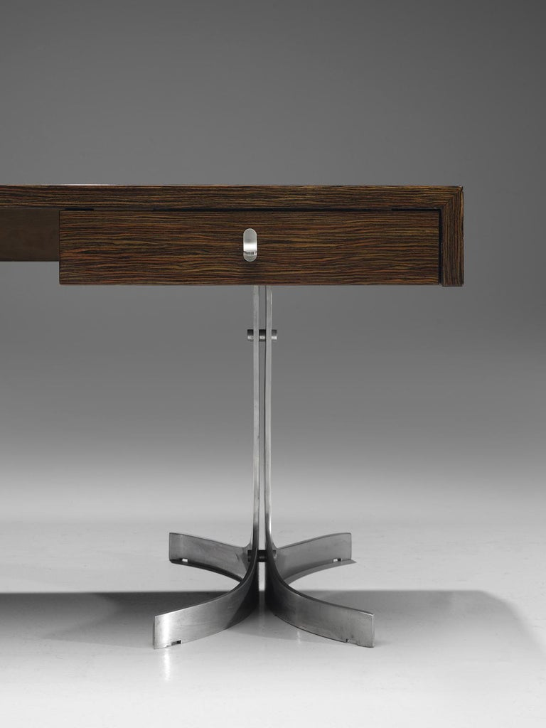 Modern Executive Desk in Rosewood In Good Condition In Waalwijk, NL