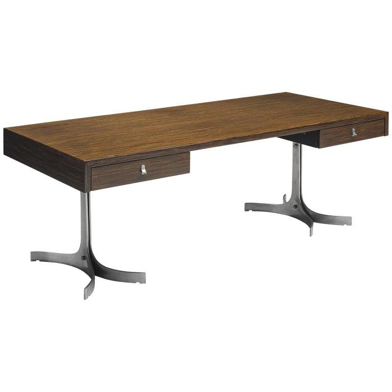 Modern Executive Desk in Rosewood