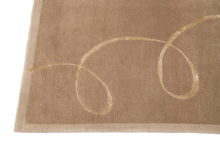 Modern Expressionist Tibetan Handmade Wool Rug In New Condition For Sale In Norwalk, CT