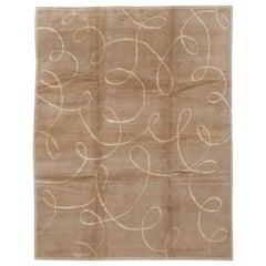 Modern Expressionist Tibetan Handmade Wool Rug