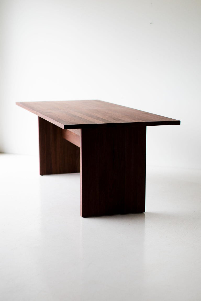 This modern extendable dining table -