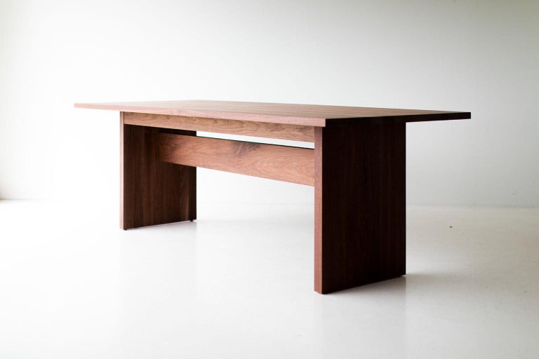 American Modern Extendable Dining Table For Sale