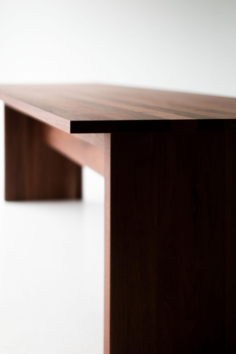Contemporary Modern Extendable Dining Table For Sale