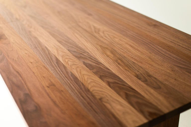 Walnut Modern Extendable Dining Table For Sale