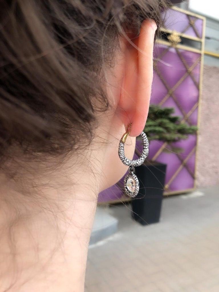 Women's Modern Fabergé Charmeuse Créoles Frédéric Zaavy Diamants Antiques Earrings For Sale