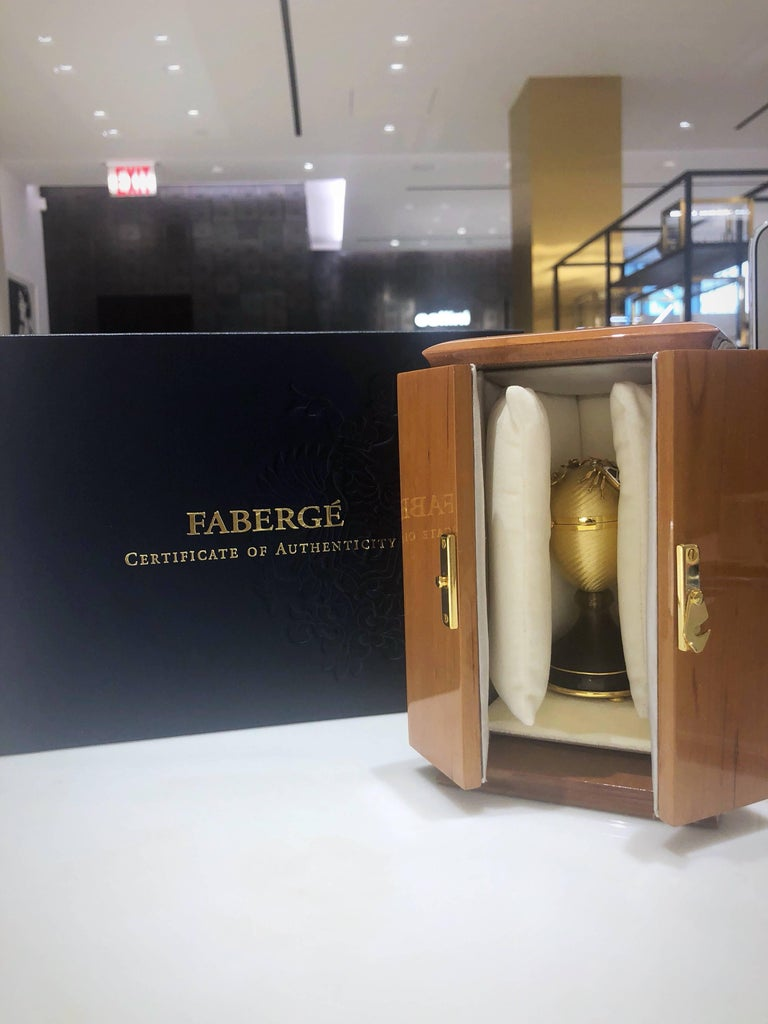 Modern Faberge  Enamel Gold Limited Edition Surprise Bear Egg Made in Germany In New Condition For Sale In New York, NY