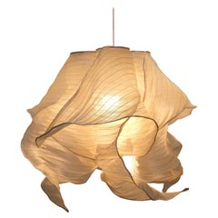 Modern Fabric Pendant Plain Light Nebula from Studio Mirei, in Stock