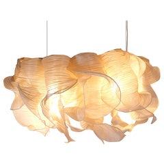 Modern Fabric Pendant Plain Light Nebula Grande from Studio Mirei
