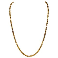 Modern Fancy Rope Link Chain 22 Karat Gold
