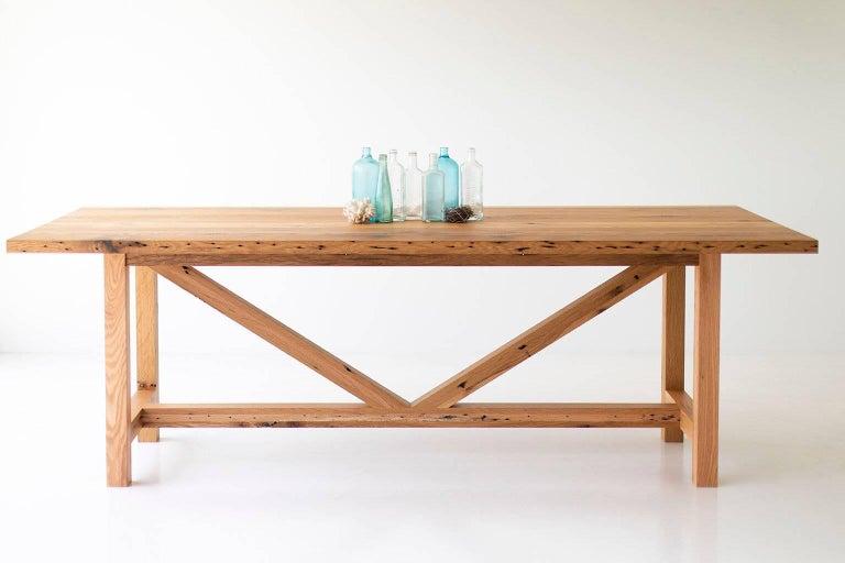 Modern Farmhouse Dining Table For Sale 7