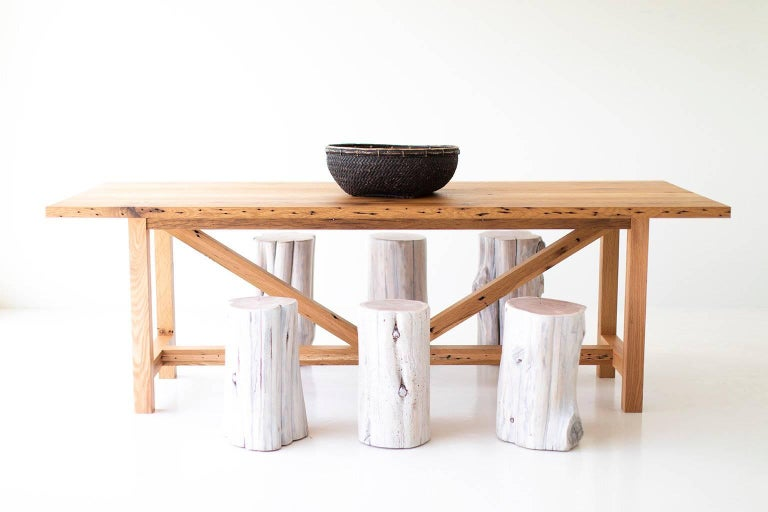 Rustic Modern Farmhouse Dining Table For Sale