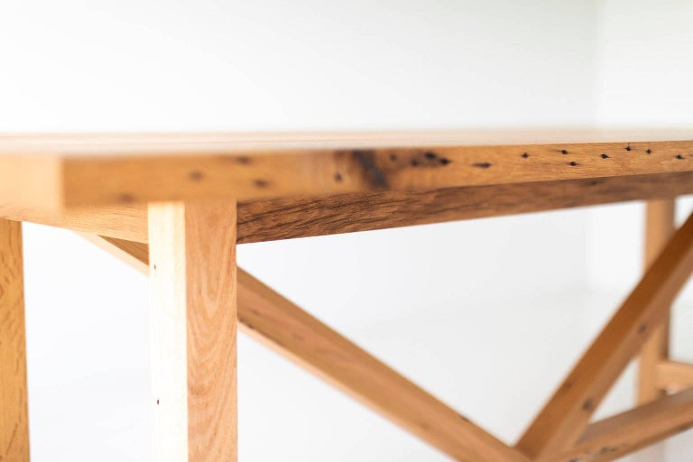 American Modern Farmhouse Dining Table For Sale