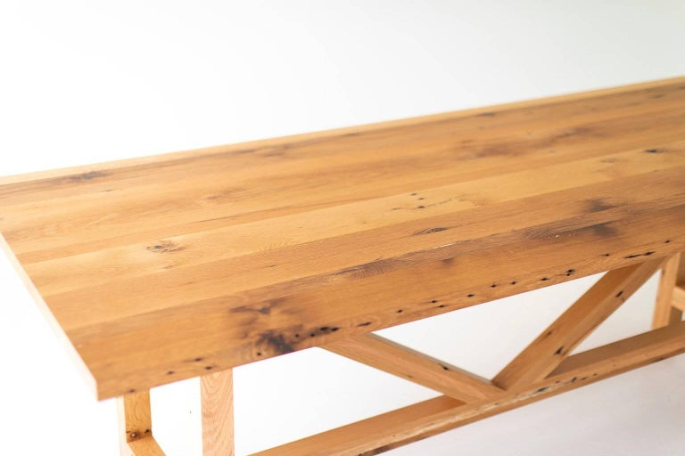 Modern Farmhouse Dining Table In Excellent Condition For Sale In Oak Harbor, OH