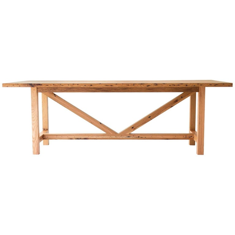 Modern Farmhouse Dining Table For Sale