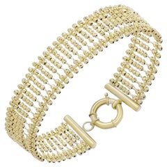 Modern Fashion Gold Cuff Bracelet 14k for Her
