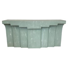 Modern Faux Concrete or Plaster Console Table