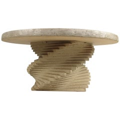 Modern Faux-Stone Coffee Table