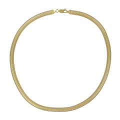 Modern Flat Mesh 18 Karat Yellow Gold Necklace