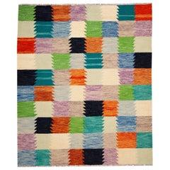 Modern Flat-Weave Kilim Rug