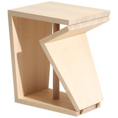Modern Foot-Rest Stool, 'Manolo Wood'