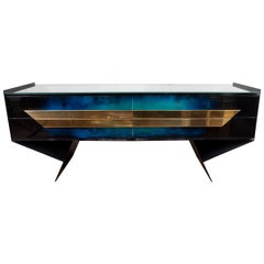 Modern Form Patinated Console