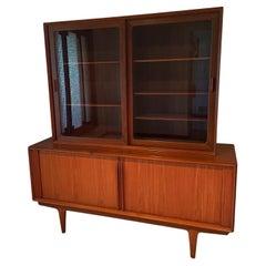 Modern Founders Furniture Company Danish Teak Credenza With Display