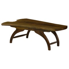 Modern Freeform Live Edge Walnut Coffee Table by Philip Andrews