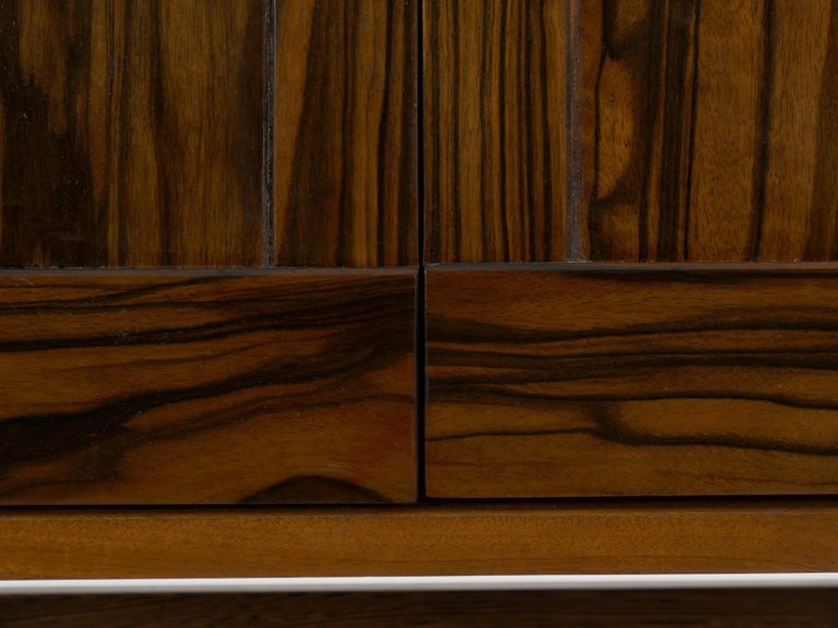 Modern Freestanding Dovetailed Mahogany and Ebony Bookcase Cabinet by John Hein For Sale 9