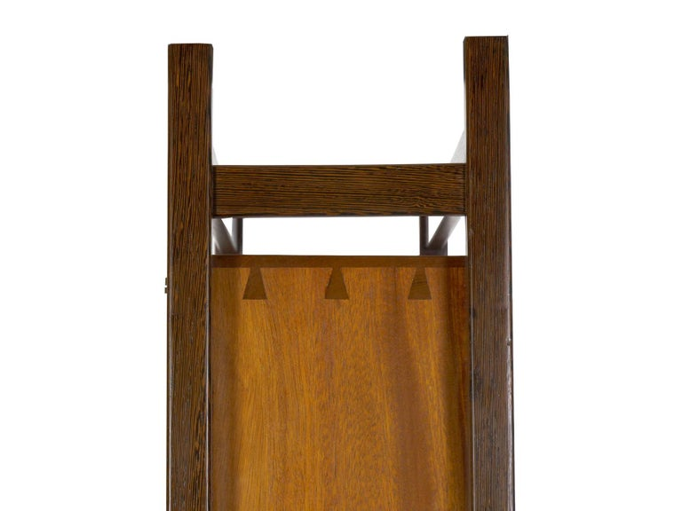 Modern Freestanding Dovetailed Mahogany and Ebony Bookcase Cabinet by John Hein For Sale 14