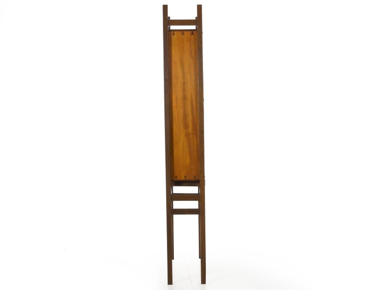 Modern Freestanding Dovetailed Mahogany and Ebony Bookcase Cabinet by John Hein For Sale 1